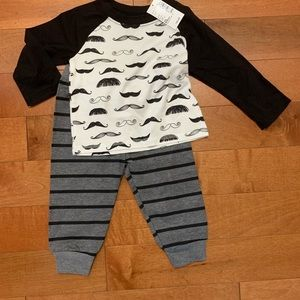 🆕 Mr. mustache 2 piece set by Children's Place